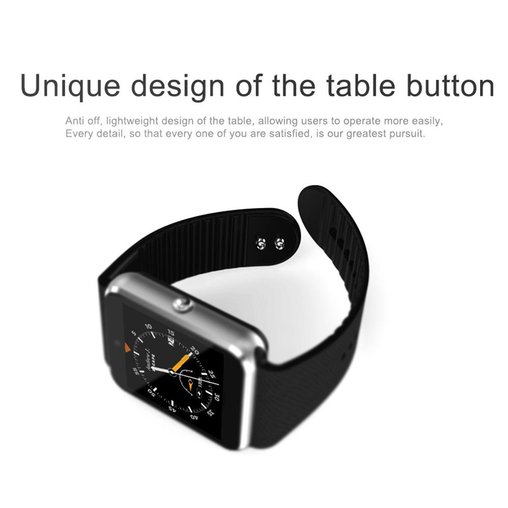 Inteligente Traducción Reloj Casa Qw08s Control Negro App Yf67byg