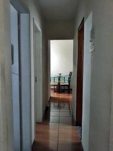 r$ 300 mil - amplo apartamento no coração polo gastronômico - dep. de empregada completa - cond. barato - 2 qtos - armários - vaga de garagem - ap1083
