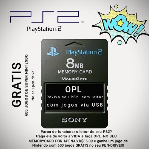 r$ 35 reais opl para ps2 **no seu memory card**