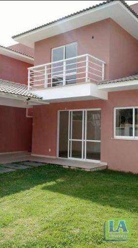 r$ 700.000,00 casa primeira locação 3 suítes quintal gramado à venda, itaipu, niterói. - ca0238