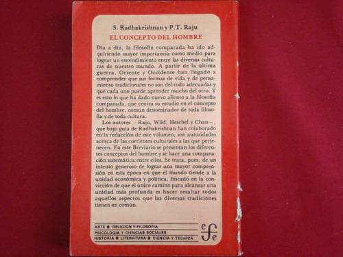 r. radhakrishnan y p. t. raju, el concepto del hombre