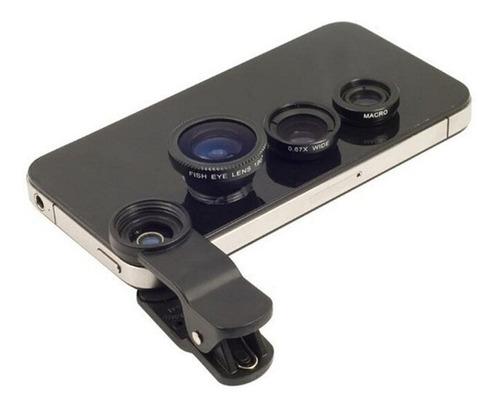 r-set lentes ojo de pez telefonos moviles - color dorado