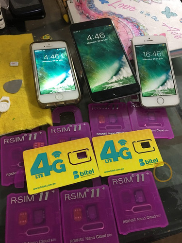 r-sim 12+ 4g lte libera iphone 4 hasta el 8 plus originales!
