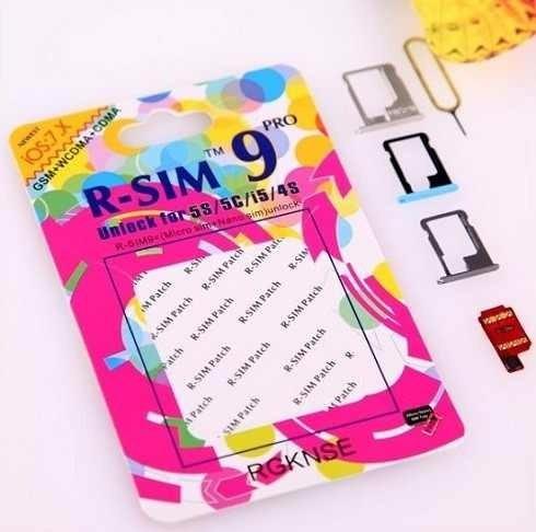 r-sim 9 pro -iphone 4s, 5, 5s gevey turbosim, cualquier -ios
