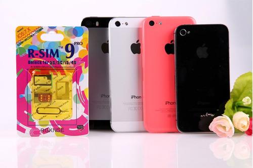 r-sim 9 pro original iphone 4s y 5 sprint verizon telcel mn4