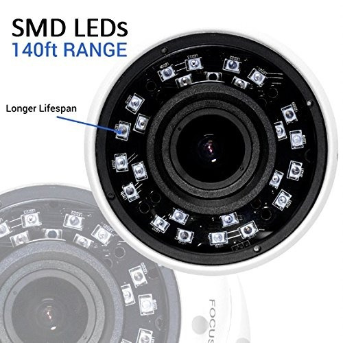 r-tech rvd70w 1000tvl cámara domo de seguridad exterior con