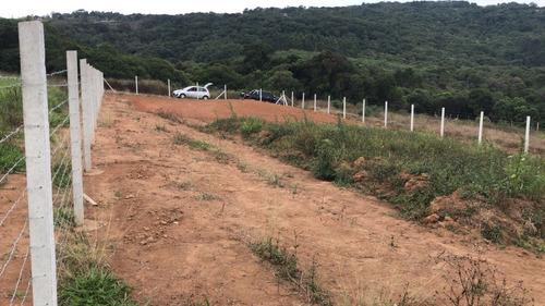 r terrenos p/ chaçarás 500m2 c/ água luz portaria em ibiúna