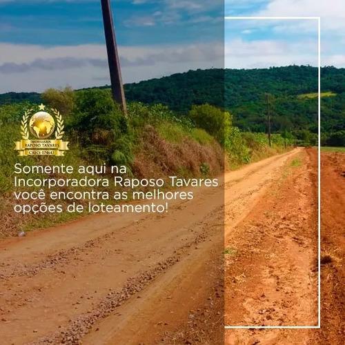 r terrenos p/ chácaras 500mts c/ água e luz segurança