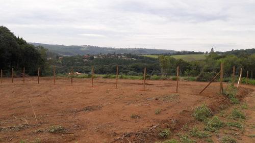 r terrenos planos de 1000 m2 c/ fácil acesso com água e luz