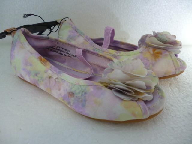 calidad perfecta múltiples colores sitio oficial R Zapatillas Zapatos Flats Niña Hm H&m Lila Floreado Oferta