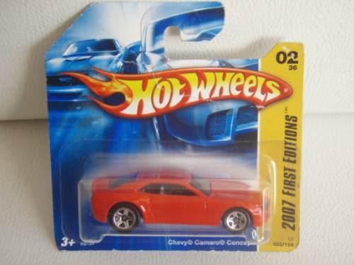 r$18 no lote hot wheels 2007 camaro concept 5sp gariba58