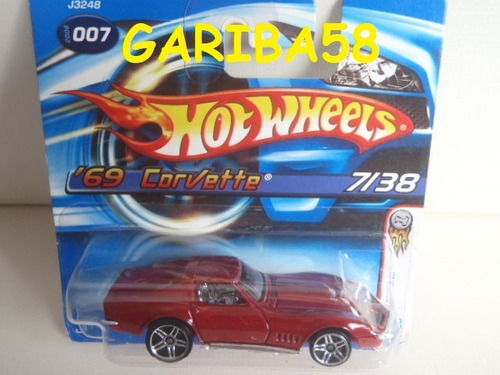 r$18 no lote hot wheels 69 corvette zl-1 2006 first edit g58