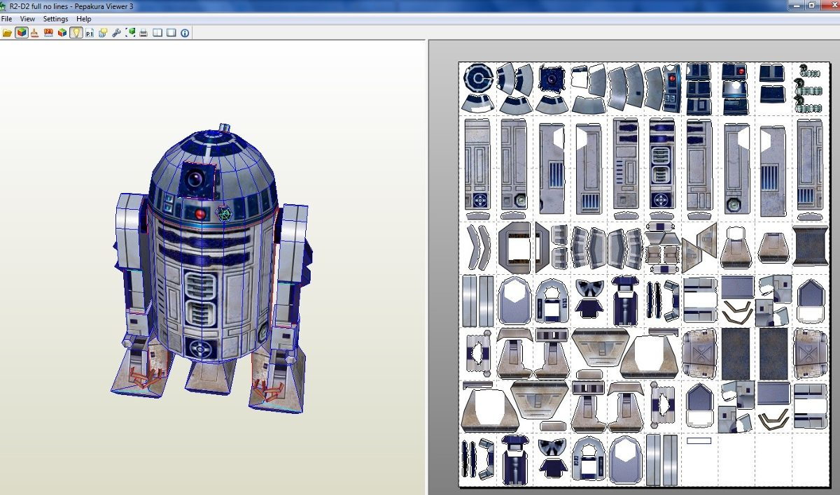 R2-d2 Tamaño Natural De Starwars (para Armar En Papel ...