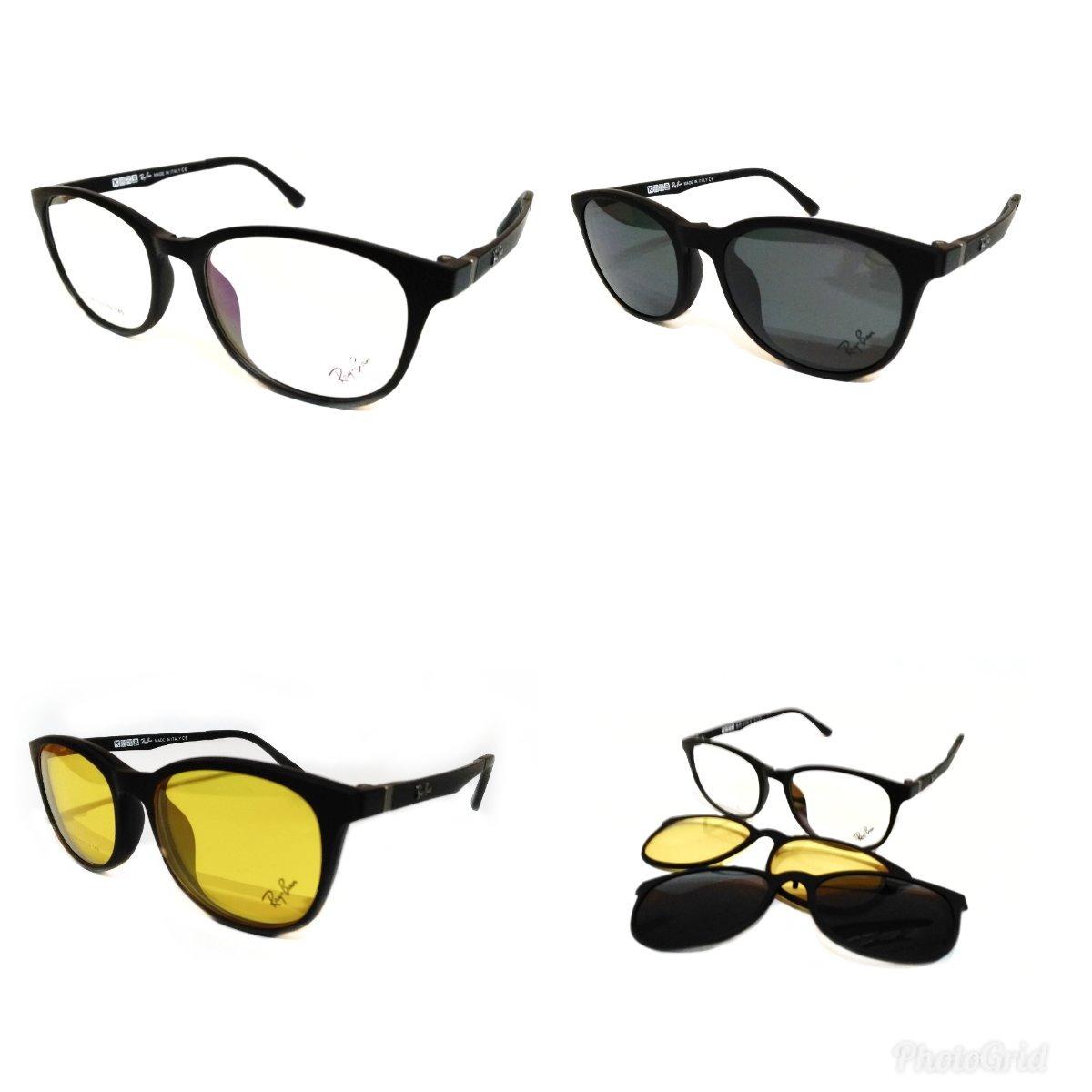 64ce5dcbdc684 r2096 oculos grau sol ray-ban redondo 2clipon envio em 24h. Carregando zoom.