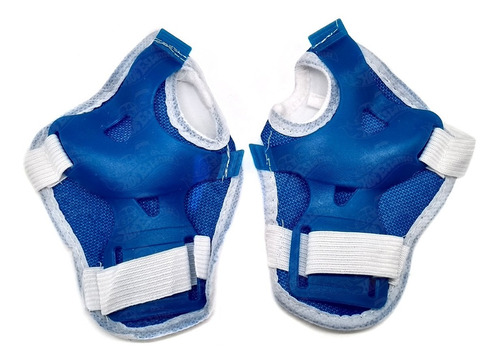 r2629 kit patins  rollers masculino p 28-31 / azul  bbr