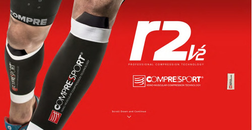r2v2 black talla 4 compressport pantorrillera