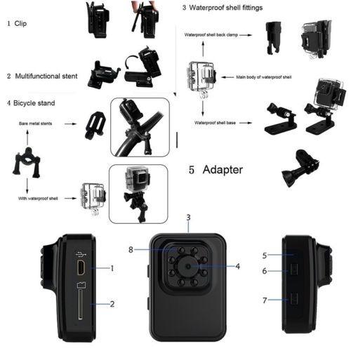 r3 wifi mini hd deportes dvr de la dv cámara audio video
