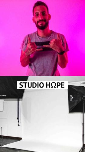 r$80,00 locação studio fotográfico produtora hope r$80,00