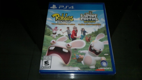 rabbids invasion completo play station 4,excelente titulo