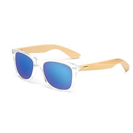93643d38d6 Rabbitstorm Gafas De Sol De Madera De Bambú Con Azul Lente P ...