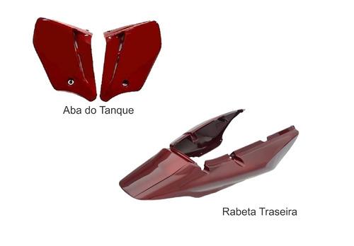 rabeta traseira+abas cbx250 twister vermelho  2008
