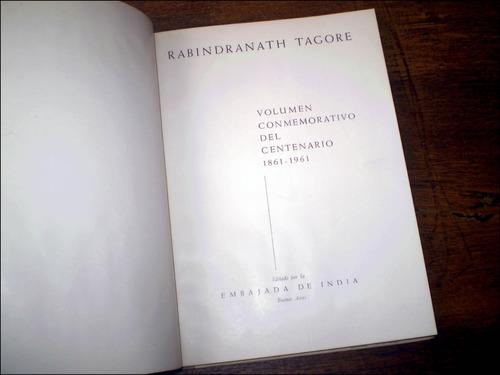 rabindranath tagore / volumen conmemorativo de su centenario