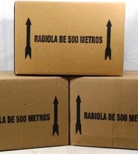 rabiola para pipa carioquinha 25 cm caixa com 500 metros