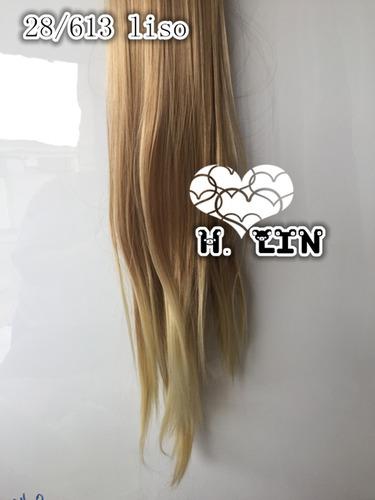 rabo de cavalo 28/613 loiro mantei perola piranha ombre hair