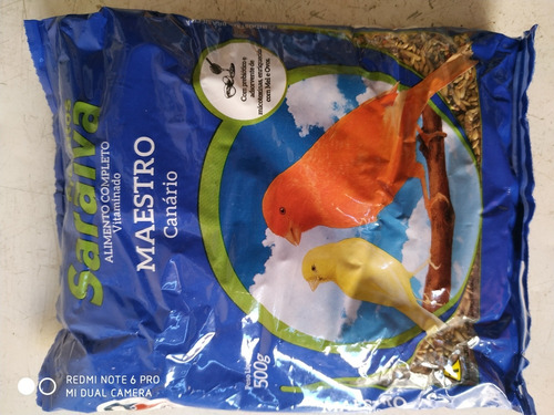 racao completa p/ canarios belgas- 500 g - promoçao