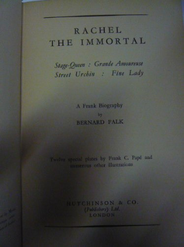 rachel the inmortal. bernard  falk
