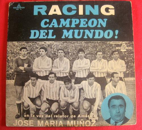 racing campeón 1967 firmas plantel entradas póster - lp