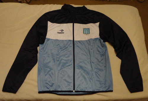 racing campera rompevientos tricolor marca topper, talle xl