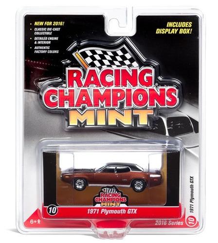 racing champions carro 1971 plymouth gtx 1/64 ref: rc002