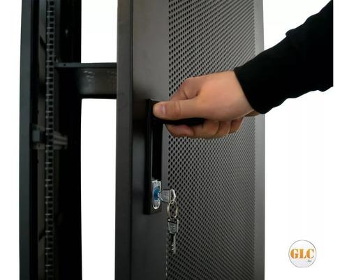 rack 30 unidades glc 19 pulgadas 800mm c/ cerradura y ruedas