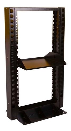 rack aberto tipo coluna ou torre 24us c/ 2 guias e 1 bandeja