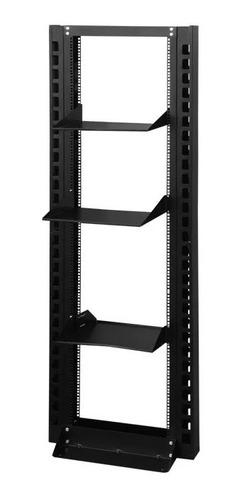 rack aberto tipo coluna ou torre 28us+2 bandeja 40cm+ 2 gui