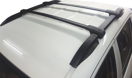 rack barras portaequipaje aluminio negra bepo negra para s10