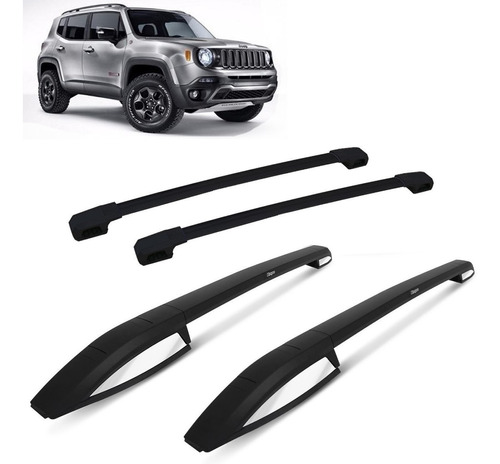 rack barras portaequipaje negro bepo jeep renegade