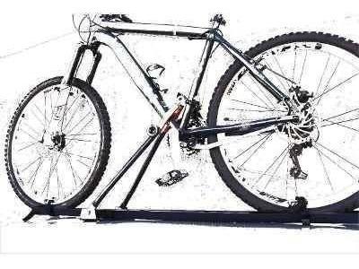 rack bike teto transbike plus nas travessas de bagageiro
