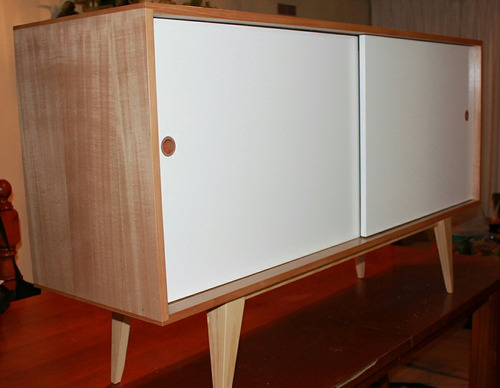rack buffet retro blanco/ coigue ebacam muebles