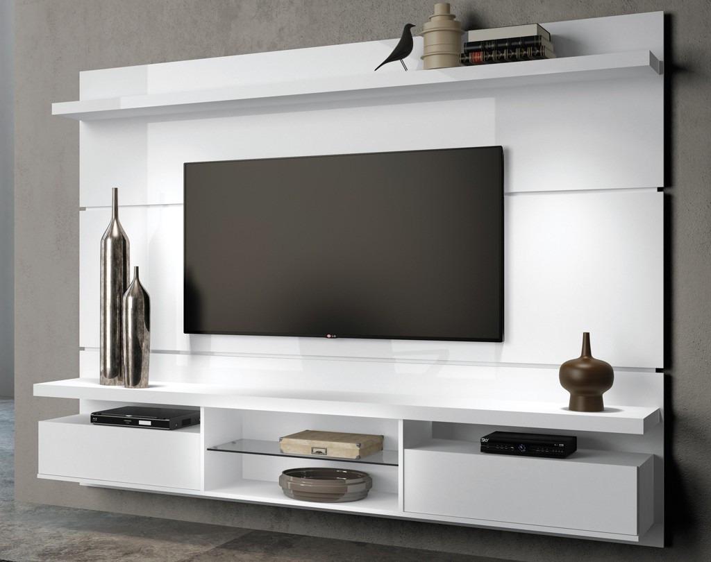 Rack Com Painel Home P Tv Lcd Led Livin 2 20m Hb R 699 00 Em  -> Estantes Para Sala De Tv Lcd