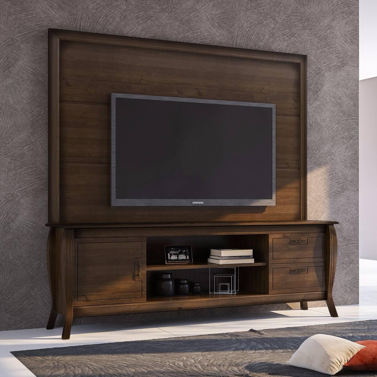 30b359241 rack com painel madeira robusto maciço sala tv completa luxo. Carregando  zoom.