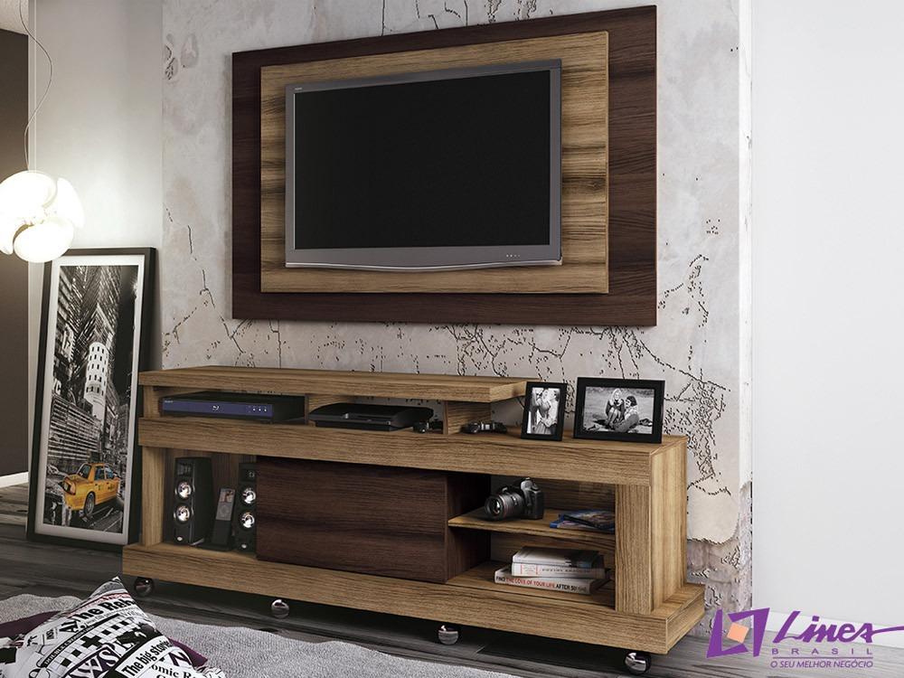Rack com painel para sala de tv modelo dallas r 430 00 for Modelos de modulares para sala