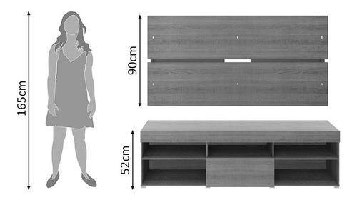 rack com painel para tv até 65 polegadas madesa miami