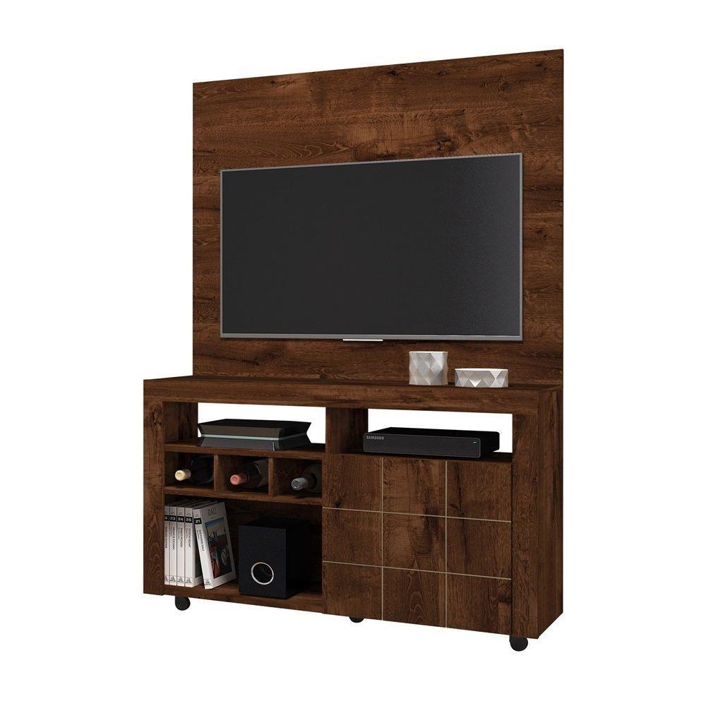 Rack Com Painel Pequeno Para Tv 32 Polegadas Am Escuro R 339 90  -> Rack Pra Sala De Tv