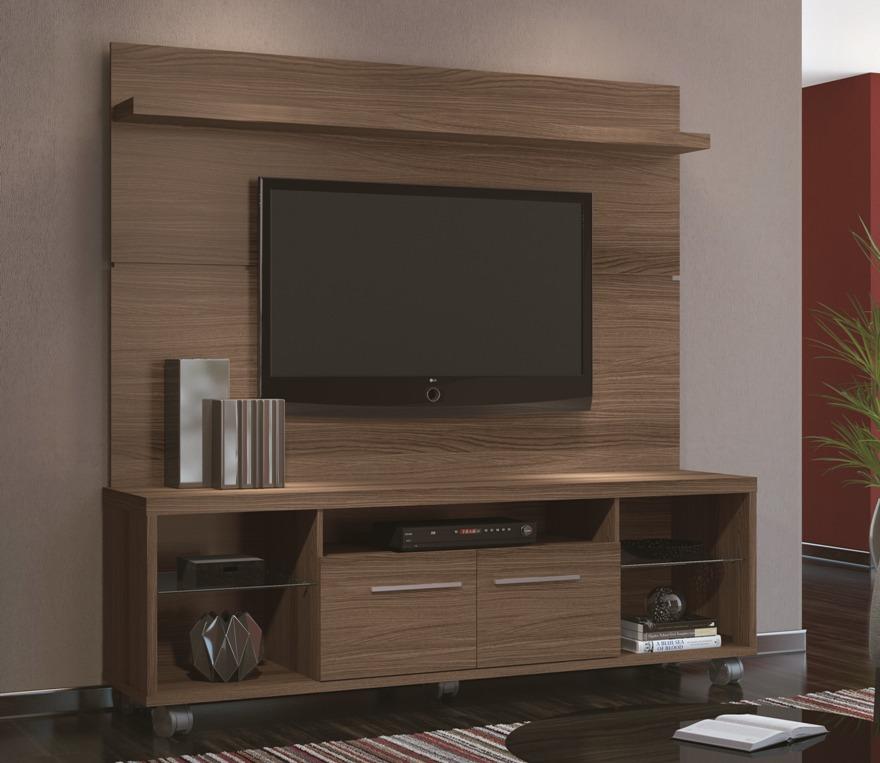 Painel E Rack Sala Pequena ~  For Sala pequena com painel de tv, rack, mesa de centro e quadros