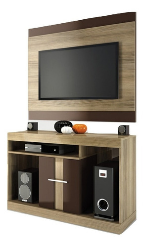 rack con panel mesa tv led televisor san d - dormire