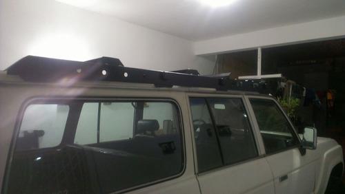rack de techo toyota samuray con bandeja