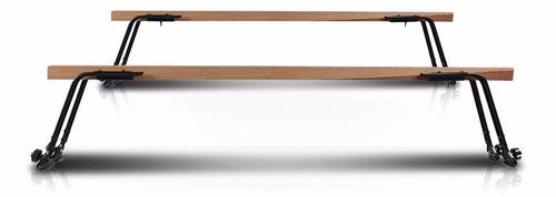 rack de teto em madeira  volkswagen kombi