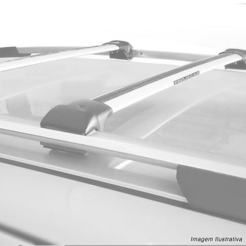 rack de teto travessa crossfox 2010 a 2017 slim prata 45kg